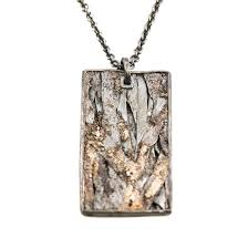 todd reed large dog tag necklace in