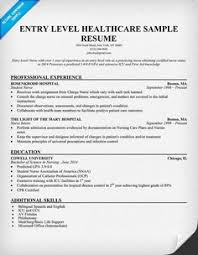 entry level healthcare resume example objective for healthcare resume