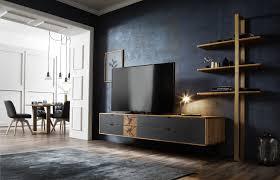 Tv Lowboard Und Regalleiter Max Wood In Wildeiche Massiv