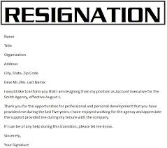 Samples Of Resignation Letters: Resignation Letters Template