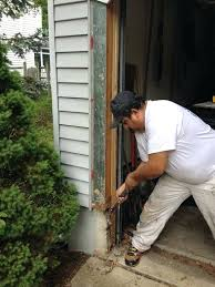 door frame replacement residential rotting wood window panel garage