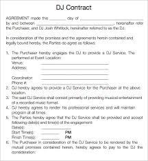 Dj Agreement Contract - Kleo.beachfix.co