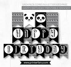 Printable Happy Birthday Letters Black And White Download Them Or