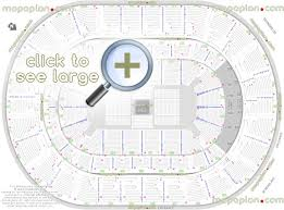 Rogers Arena Virtual Seating Chart Chesapeake Energy Arena Seat Row Numbers Detailed Seating