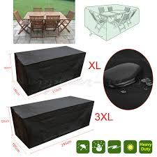 details about rectangular waterproof outdoor garden patio furniture cover rattan table cube uk