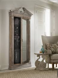 mirror locking jewelry armoire and adjule full length combined