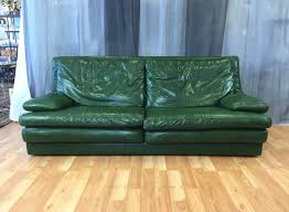 Modern Sofa Bed Tags : Magnificent Green Leather Sofa Wonderful ...