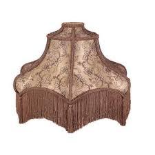 mocha brown fabric lamp shade