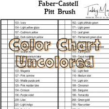Faber Castell Polychromos Color Chart Faber Castell Pitt Brush Color Chart 60 Colors