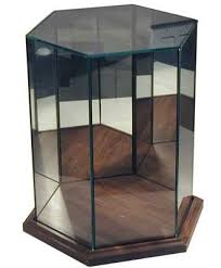doll cases hexagon wood base large zz curio cabinets curio cases doll cases glass