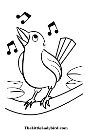 Free Birds Coloring Pages Thelittleladybirdcom