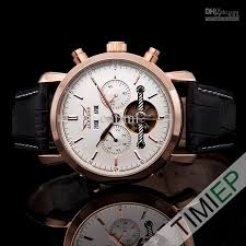 luxury rose gold tone mens watch case vintage automatic mechanical 1x wrist watch 1x gift box