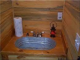 off grid galvanized shower tub just