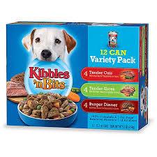 Kibbles N Bits Wet Dog Food Variety Pack Featuring Burger
