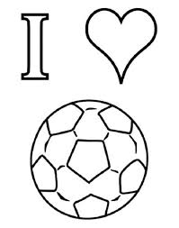 I Love Soccer Coloring Pages Boys Coloring Pages Football