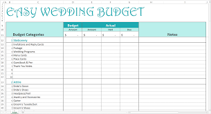 budget planner excel template amazing wedding budget planner easy wedding budget excel template