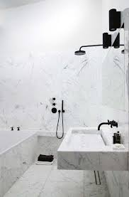 black bathroom fixtures. The 16 Perfect Marble Bathrooms With Black Fixtures Regard To Bathroom Decor H