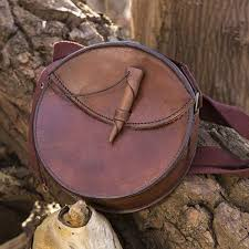 epic armoury round leather bag brown