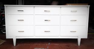 white mid century modern dresser. Exellent Mid Midcentury Modern Dresser Painted With Sherwin Williams Pure White And  Updated Chrome Drawer Pulls On Mid Century