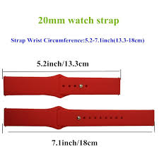 Silicone Wristbands Size Chart 20mm Sport Silicone Wristband Strap Bracelet For Amazfit Bip Rubber Band