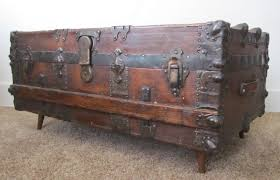 Black Steamer Trunk Coffee Table Antique Vintage Steamer Trunk Coffee Table Style Thippo