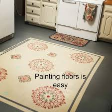 Painted Kitchen Floor Diy Painting Floors With Stenciled Rug Design For What Its Worth