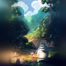 Totoro anime illustration art iPad ...