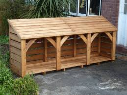 Individually handmade using Cedar wood, this log store is 6ft x 6ft (approx  183cm x 183cm) and costs 640 delivered constructed and ready to use.