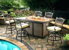 counter height patio table outstanding bar height patio set with swivel chairs outdoor furniture and inside counter height patio table