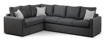 Leon Bedroom Furniture Athina 2 Piece Right Facing Queen Sofa Bed Sectional Charcoal