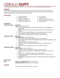 Hairstylist Resume Resumes Hair Stylist With No Experience Templates