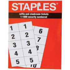 staples raffle and cloakroom tickets staples reg