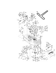 Craftsman 15 5 hp electric start 6 speed transaxle lawn trac mower deck parts