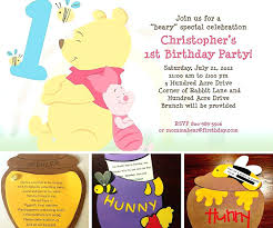 winnie the pooh first birthday invitations the pooh first birthday