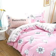 f print pink duvet cover set pure cotton single twin full queen king size bedsheet pillowcasepink