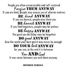 Mother Teresa Quotes Gorgeous Amazon Mother Teresa Quotes Inspirational Wall Decals Vinyl