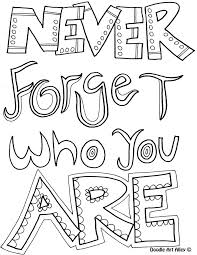 Small Picture Inspirational Quotes Coloring Pages