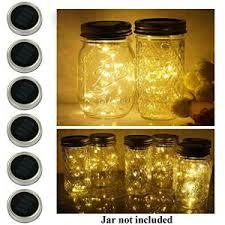 solar sun rings 10 pack. Delighful Solar 6 Pack Mason Jar Lights 10 LED Solar Warm White Fairy String  Lids Insert For And Sun Rings I