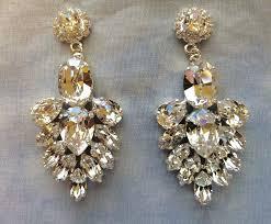 chandelier bridal earrings clear crystal bridal statement earrings images of chandelier bridal earrings uk