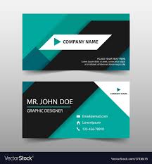 Namecard Format Green Corporate Business Card Name Card Template