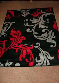 red and black rugs red grey black fl rug red and black rugs