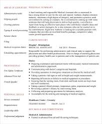skills for a medical assistant medical assistant resume 7 free samples examples format