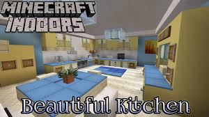 Minecraft Modern Kitchen Minecraft Indoors Interior Design Beautiful Kitchen Youtube