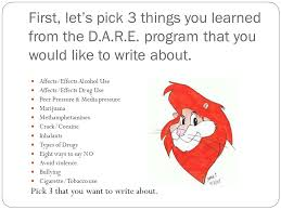 writing your d a r e essay ppt video online 5 first