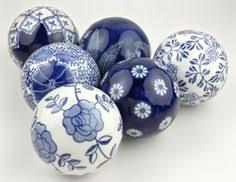 Decorative Sphere Balls Lot 60 BOMBAY CHINA Porcelain Balls BLUE WHITE Decorative SPHERE 21