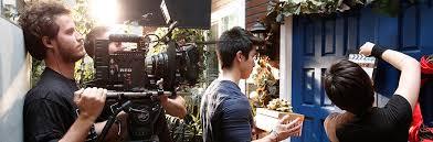 diploma of screen media filmmaking nyfa  film school student shoots scene on panaflex camera