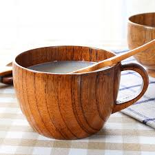 natural jujube wood coffee mug handmade wooden coffee cup mug 200ml office milk tea mug cute coffee cupugs with handgrip