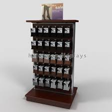 Footwear Display Stands Delectable Retail Store Fixtures Wood Slatwall Display Stands Double Sided For