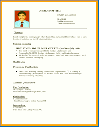 Create A Simple Resumes 10 How Create A Resume For A Job Resume Samples