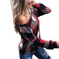 UpBeauty Women Off-<b>Shoulder</b> T-Shirt Casual <b>Oblique</b> Collar Long ...